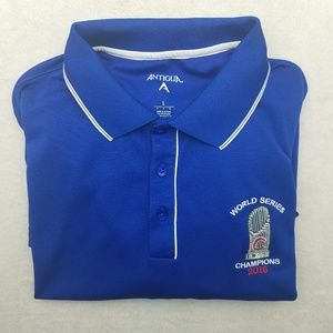 Chicago Cubs World Series Blue Golf Polo Large